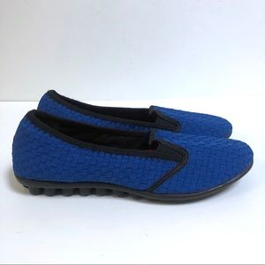 Bernie Mev 39 US 9.5 9 Woven Flats Royal Blue